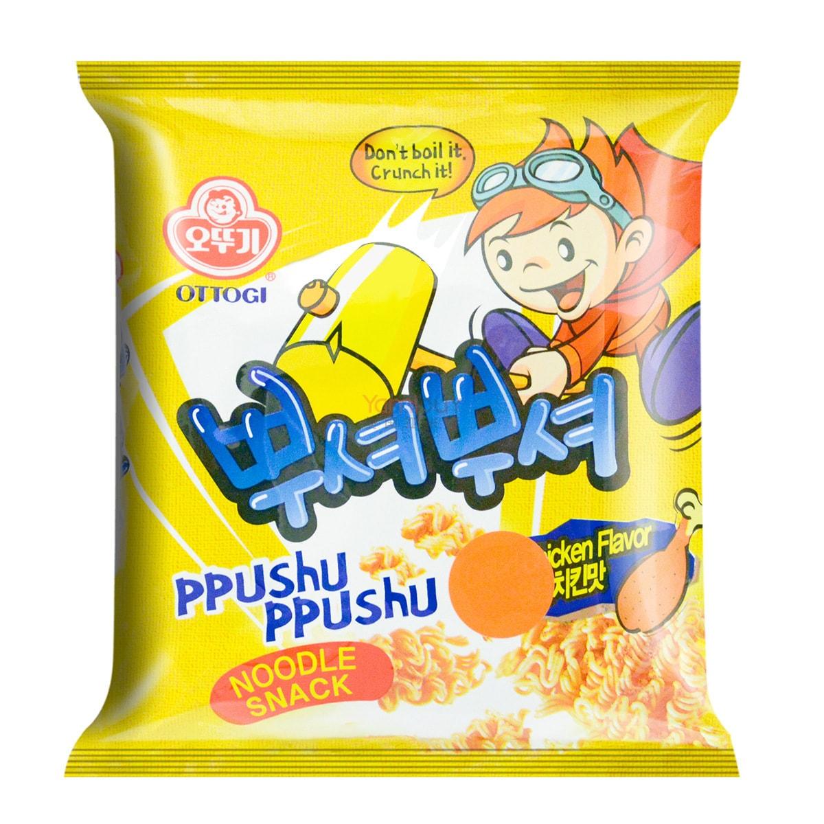 韩国OTTOGI不倒翁 PPUSHU PPUSHU干脆面 韩式烤鸡味 90g