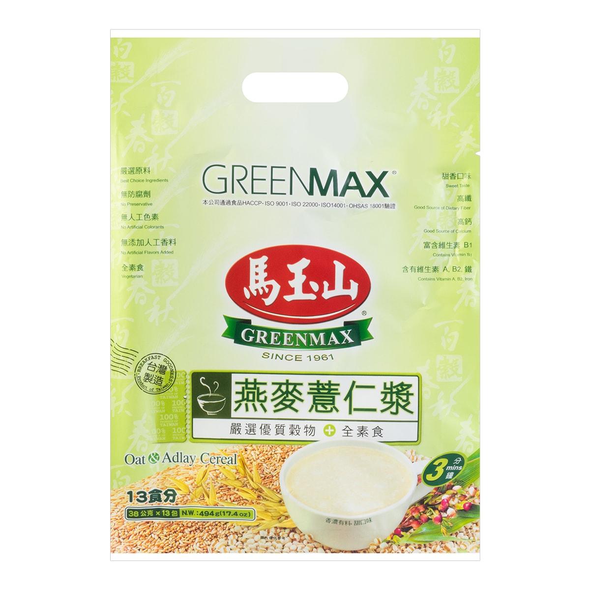 台湾马玉山 燕麦薏仁浆 13包入 494g