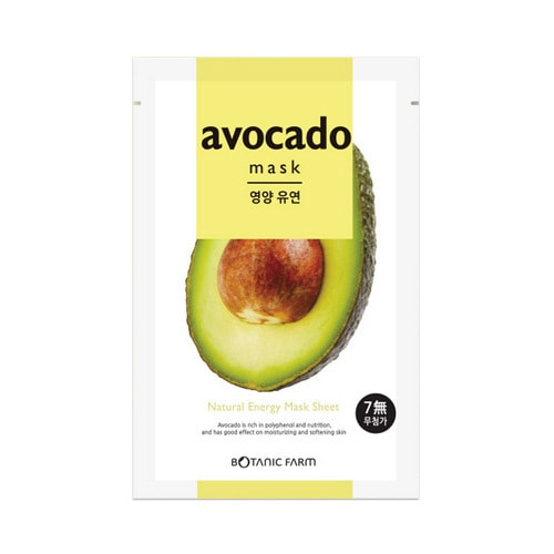 BOTANIC FARM Natural Energy Mask Sheet Avocado Mask 1sheet