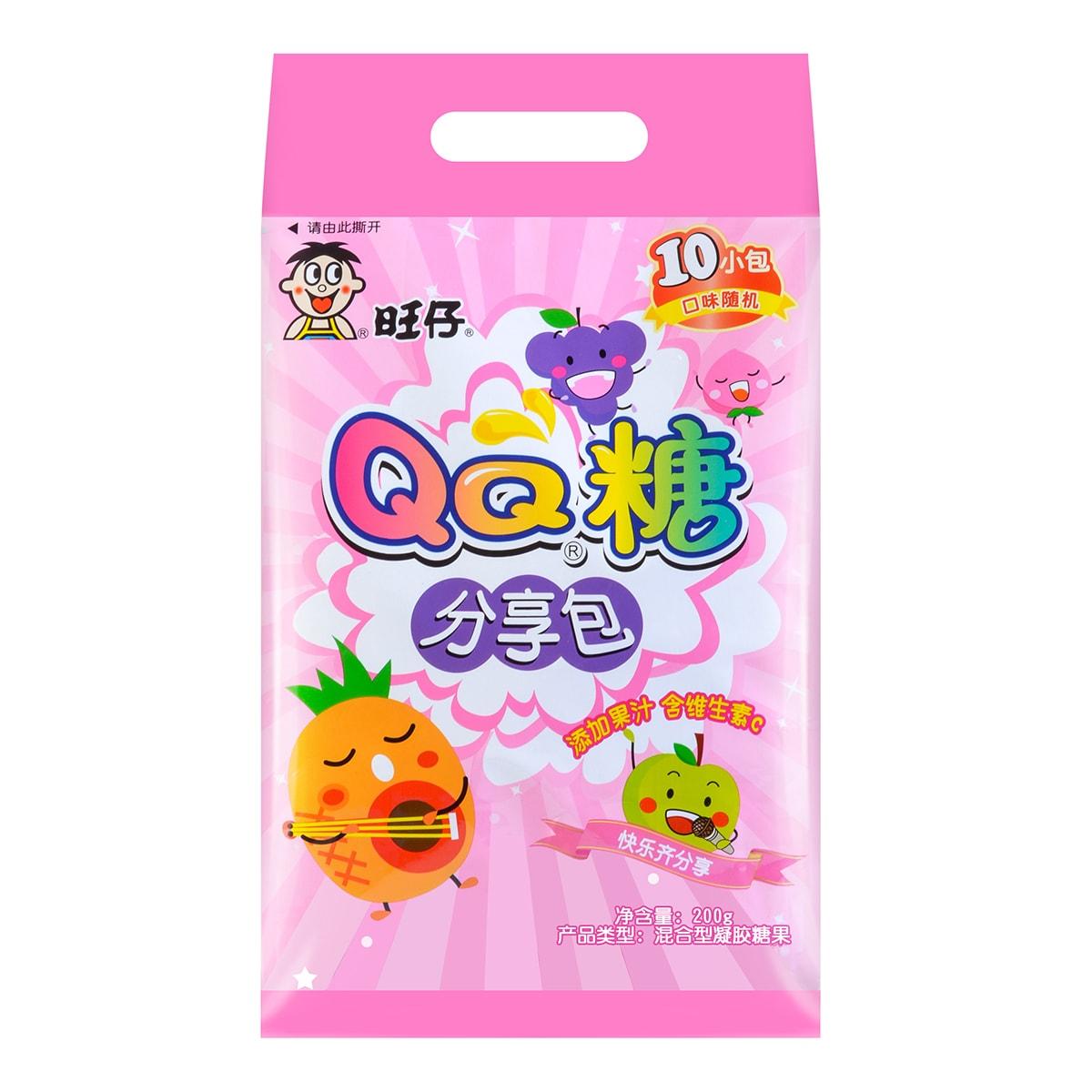 台湾旺旺 旺仔QQ糖分享包 10包入 200g 包装随机发送