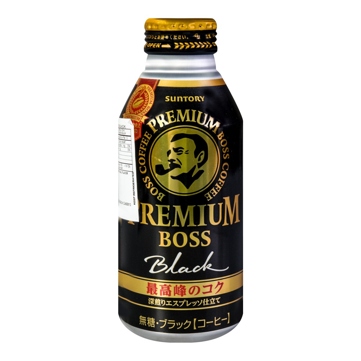 日本SUNTORY三得利  BOSS无糖黑咖啡饮料 390ml