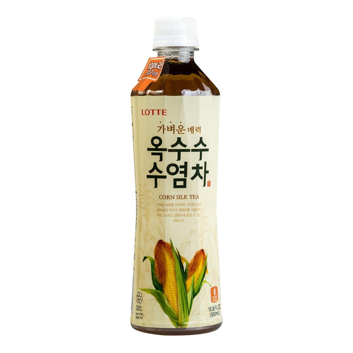 韩国LOTTE乐天 零卡路里养生玉米须茶 500ml