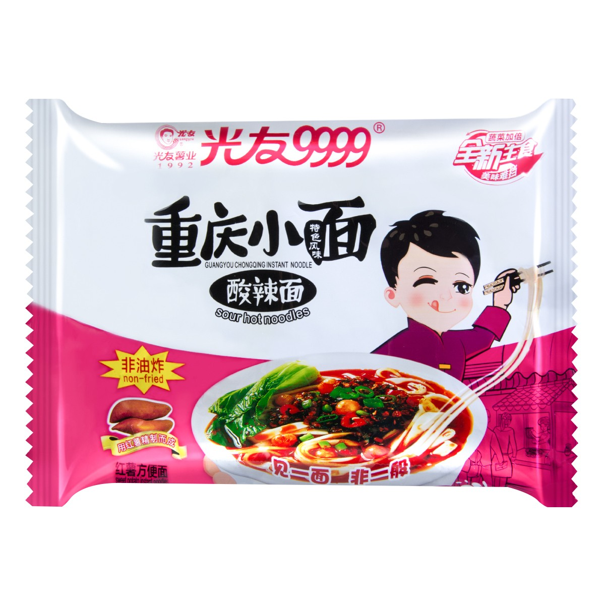 GUANGYOU Spicy Hot Noodles Hot  Sour  Flavor 110g