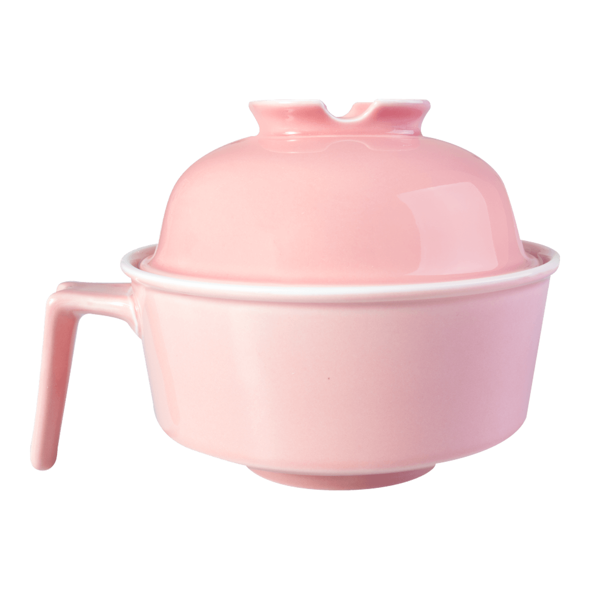 HEY BUNNY Easy Cleaning Ceramics Noodle Bowl  #Pink Microwave Safe (Free Spoon and Chopsticks Limited Timeframe)