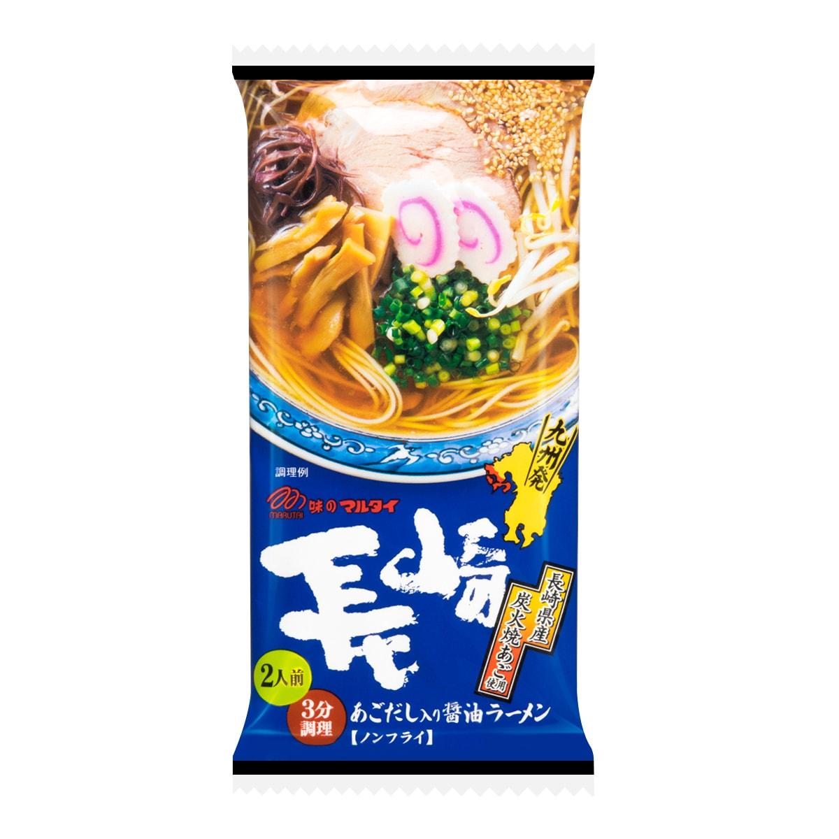 日本MARUTAI 长崎碳烤飞鱼酱油拉面 2人份 178g