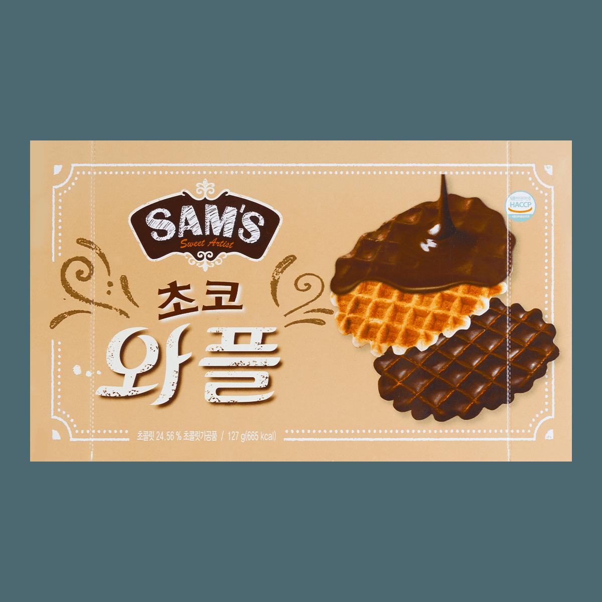 韩国SAMAH SAM'S 巧克力格子松饼 127g