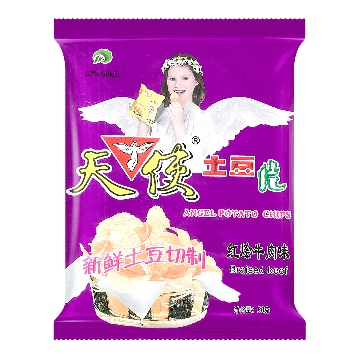ANGEL Potato Chips-Artificial Beef Flavor 50g