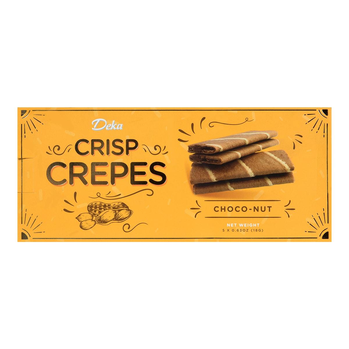 美国JANS DEKA 巧克力花生华夫脆饼 90g