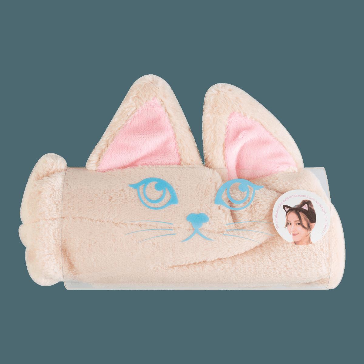 日本OHEYA MOKO MOKO 猫耳朵发带 #米色 单件入