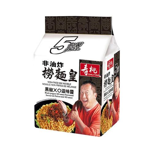 SAUTAO Black Pepper XO Sauce Flavor Non-fried Mix Noodles 5pc