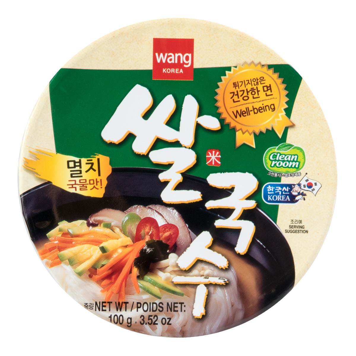 韩国WANG 韩式方便汤米粉 凤尾鱼味 碗装 100g