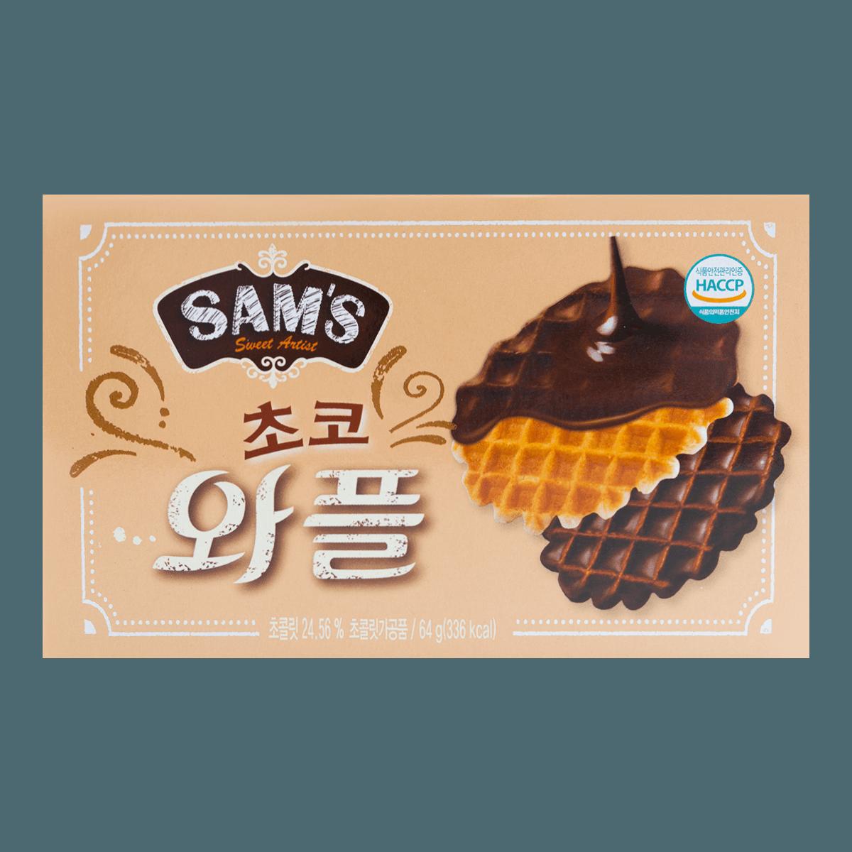 韩国SAMAH SAM'S 巧克力格子松饼 64g