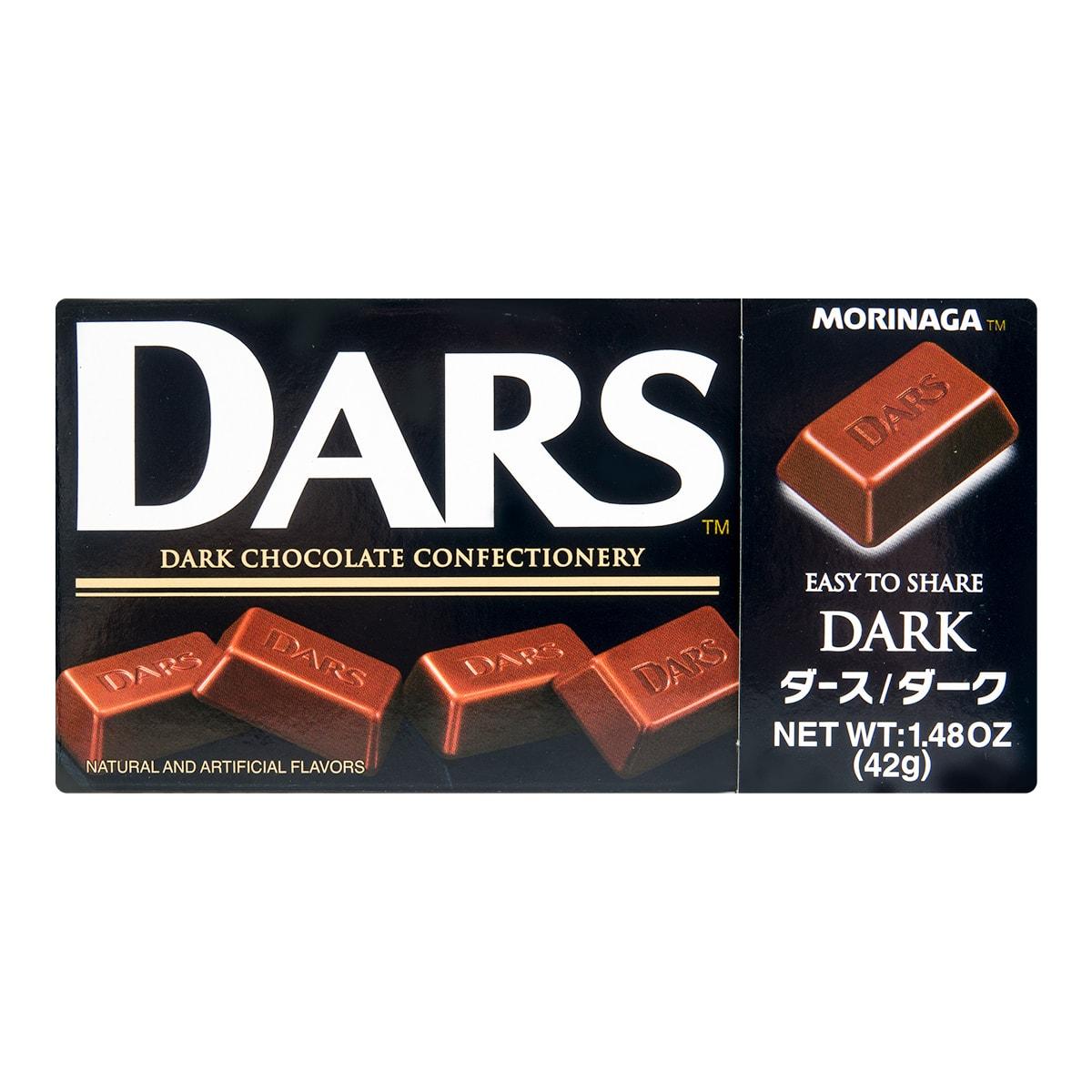 日本MORINAGA森永 DARS 丝滑细腻黑巧克力 42g