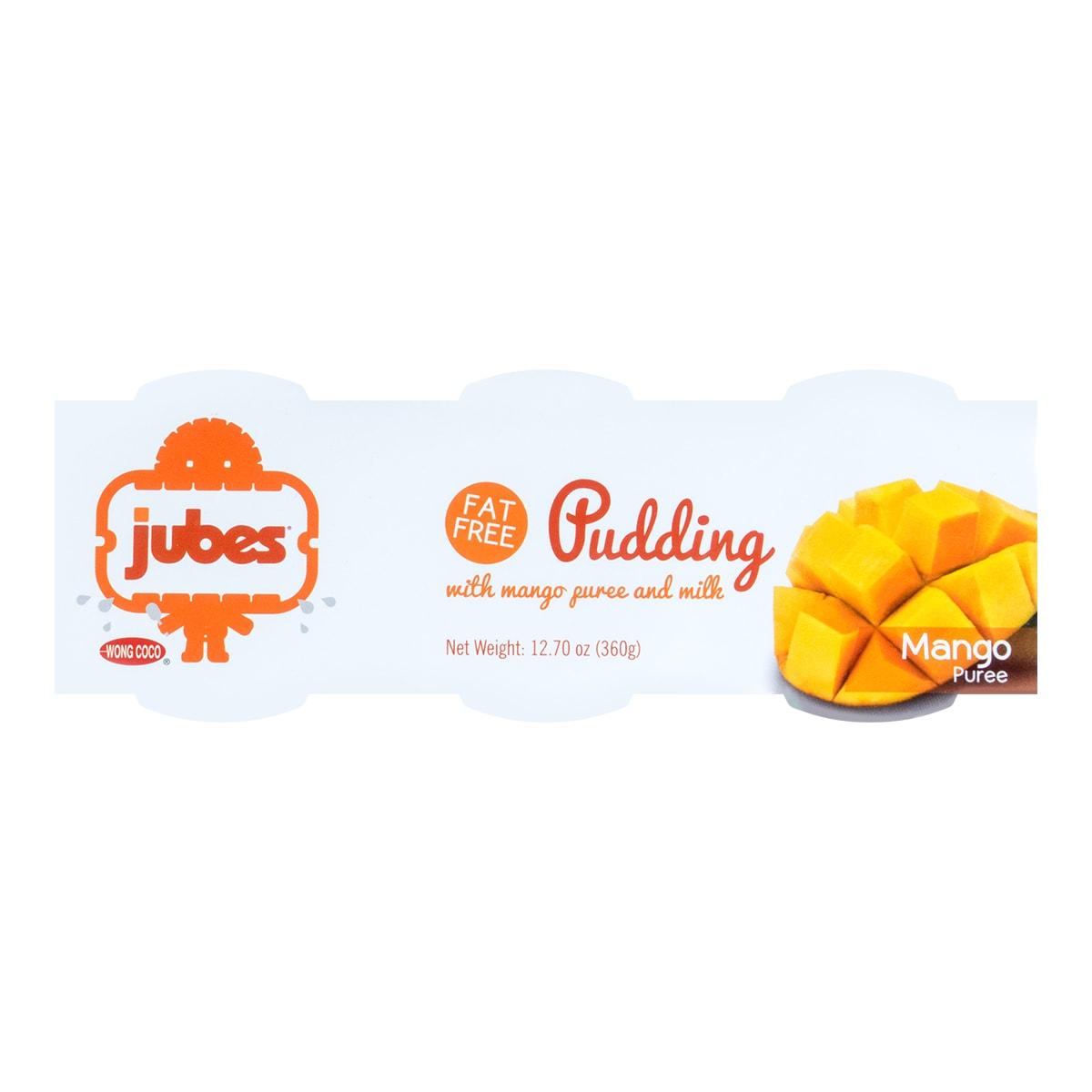 印尼WONG COCO JUBES 脱脂牛奶芒果布丁 芒果味 3杯入 360g