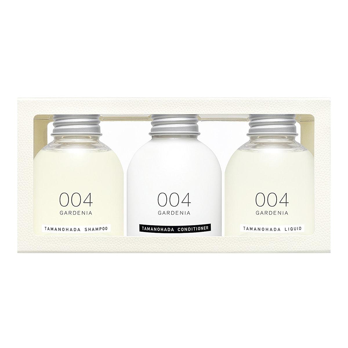 日本TAMANOHADA玉肌 旅行套装 洗发水+护发素+沐浴乳 #004栀子花香 80ml*3