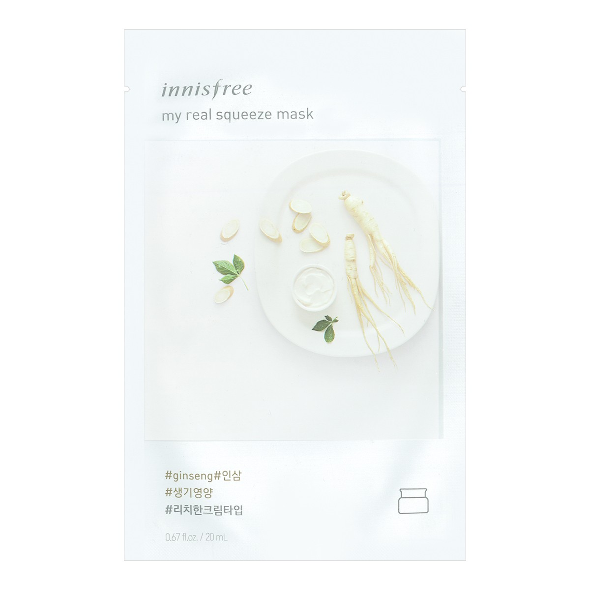 INNISFREE My real squeeze mask Ginseng 1sheet