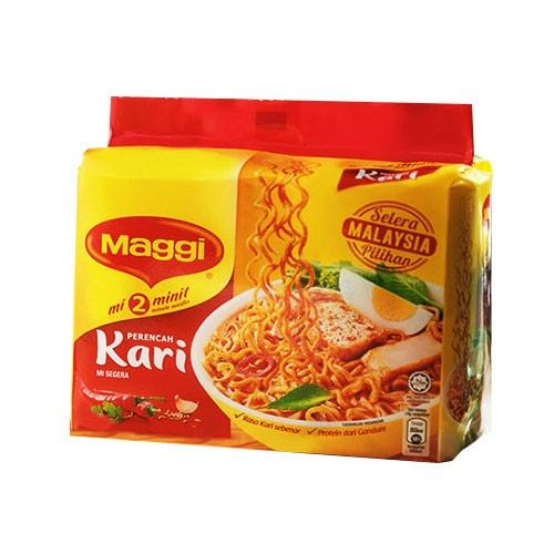马来西亚MAGGI美极 辛辣咖喱味方便面 5包入