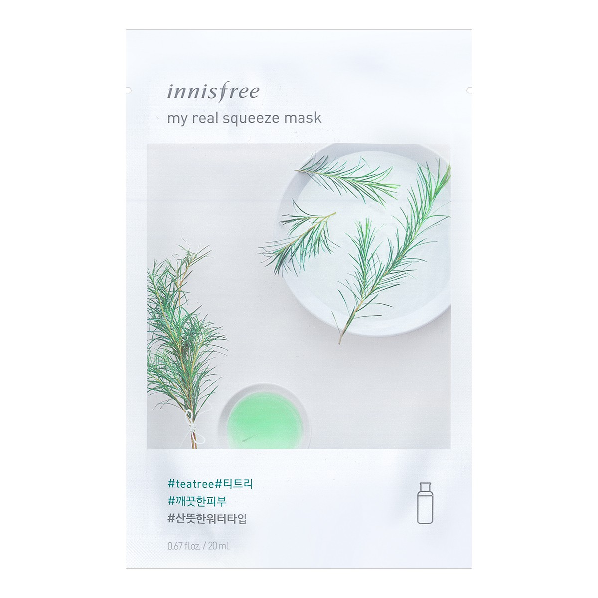INNISFREE My real squeeze mask Teatree 1sheet