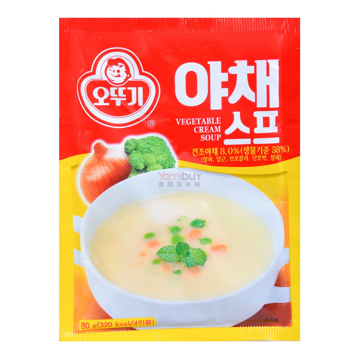 【清仓】韩国OTTOGI不倒翁 速食蔬菜奶油浓汤 80g