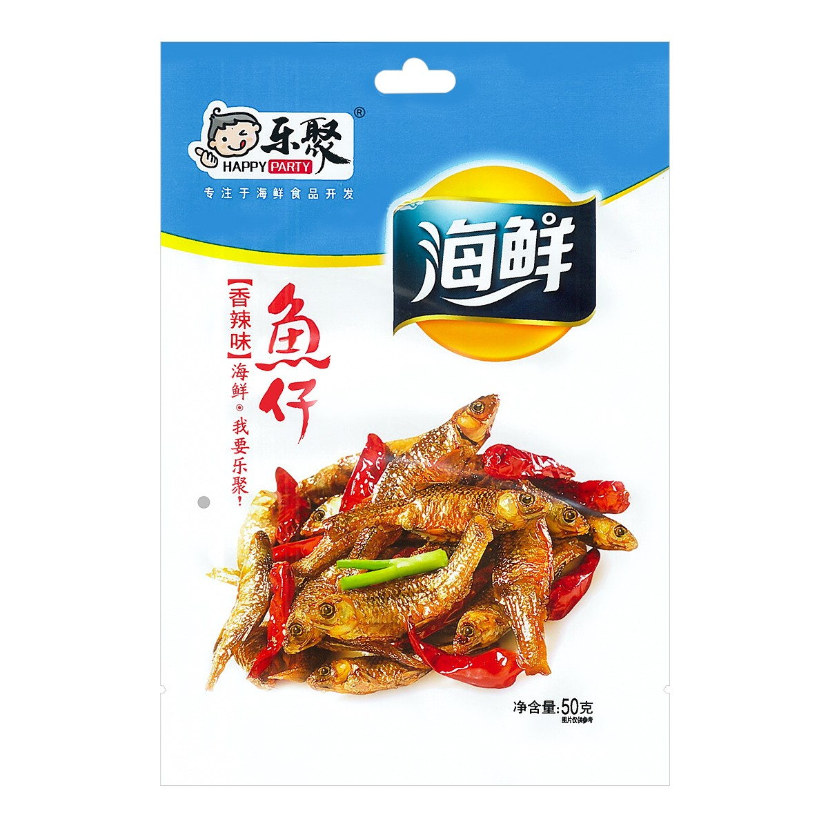 HAPPY PARTY Dried Fish Hot Spicy 50g