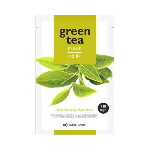 韩国BOTANIC FARM植物乐园 无添加自然植物能量面膜 绿茶精华 单片入