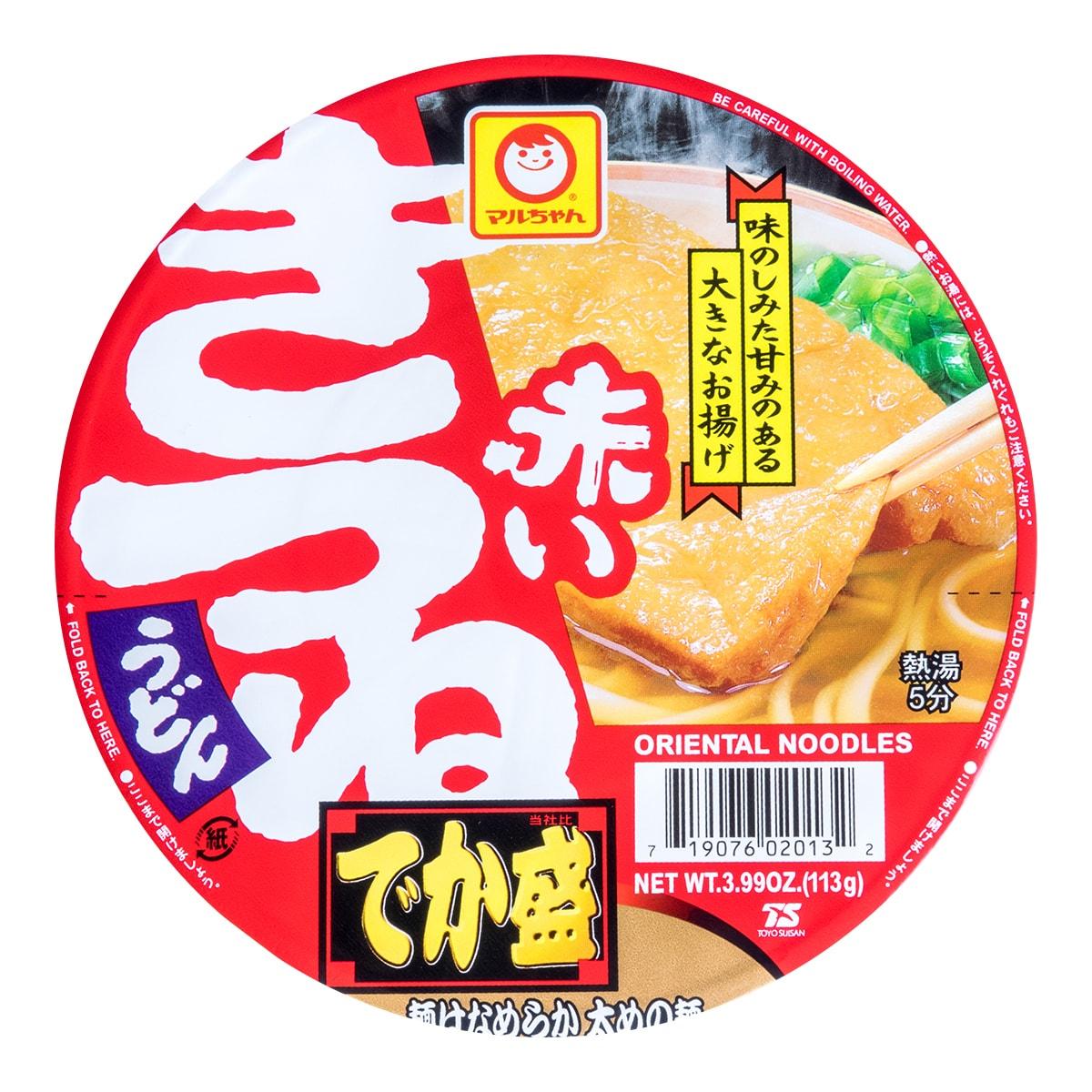 日本MARUCHAN 红油豆腐乌冬速食面 超大碗装 113g