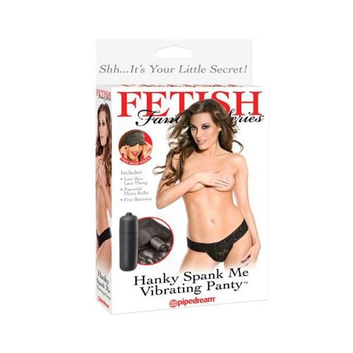 成人用品 成人用品 美国PIPEDREAM FETISH FANTASY系列 女用震动黑色蕾丝丁字裤 附眼罩
