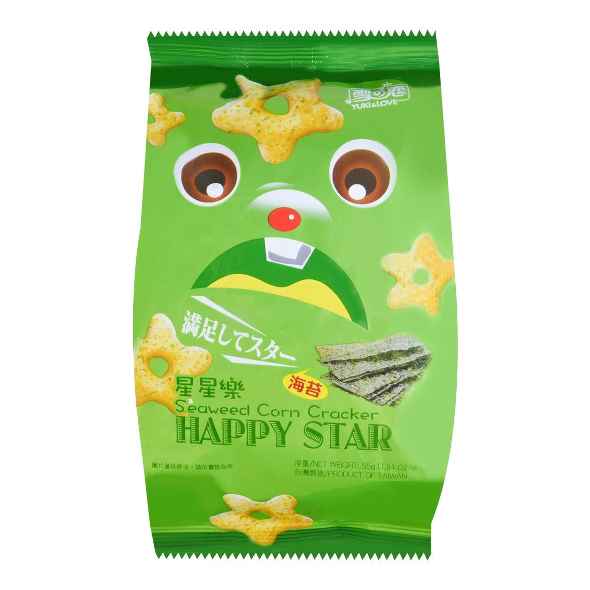 YUKI/LOVE Corn Cracker Seaweed Flavour 55g