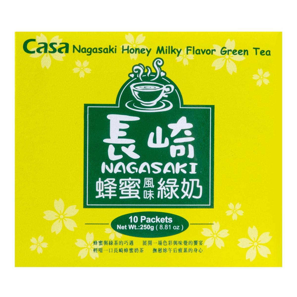 台湾CASA卡萨 长崎蜂蜜绿奶奶茶 10包入 250g