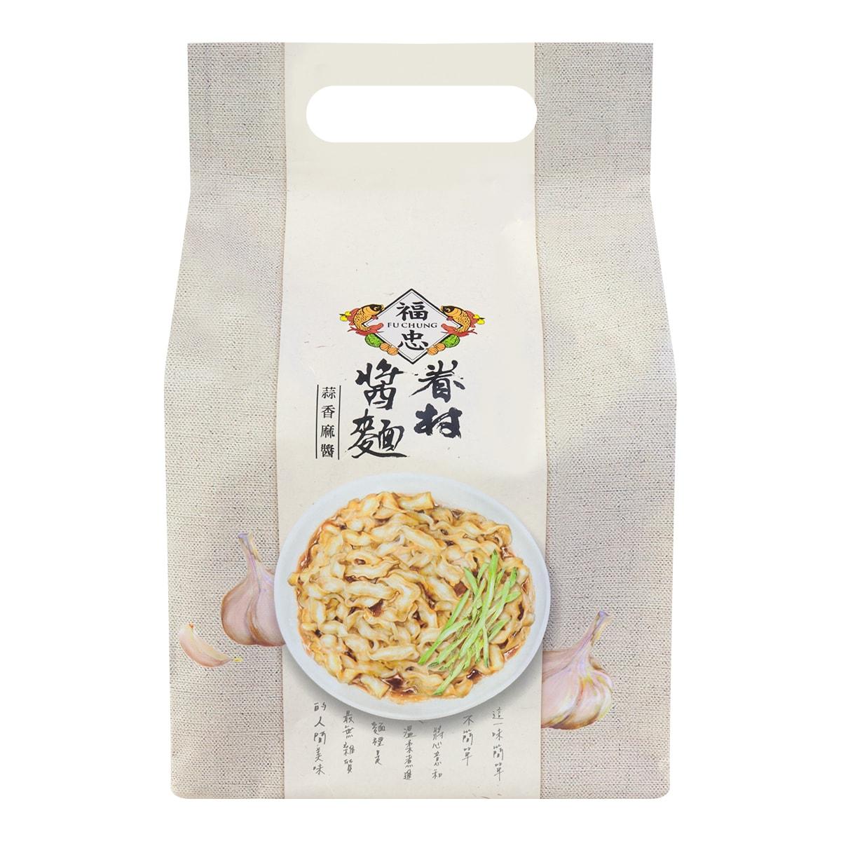 福忠FU CHUNG 眷村酱面 蒜香麻酱味 4份入460g