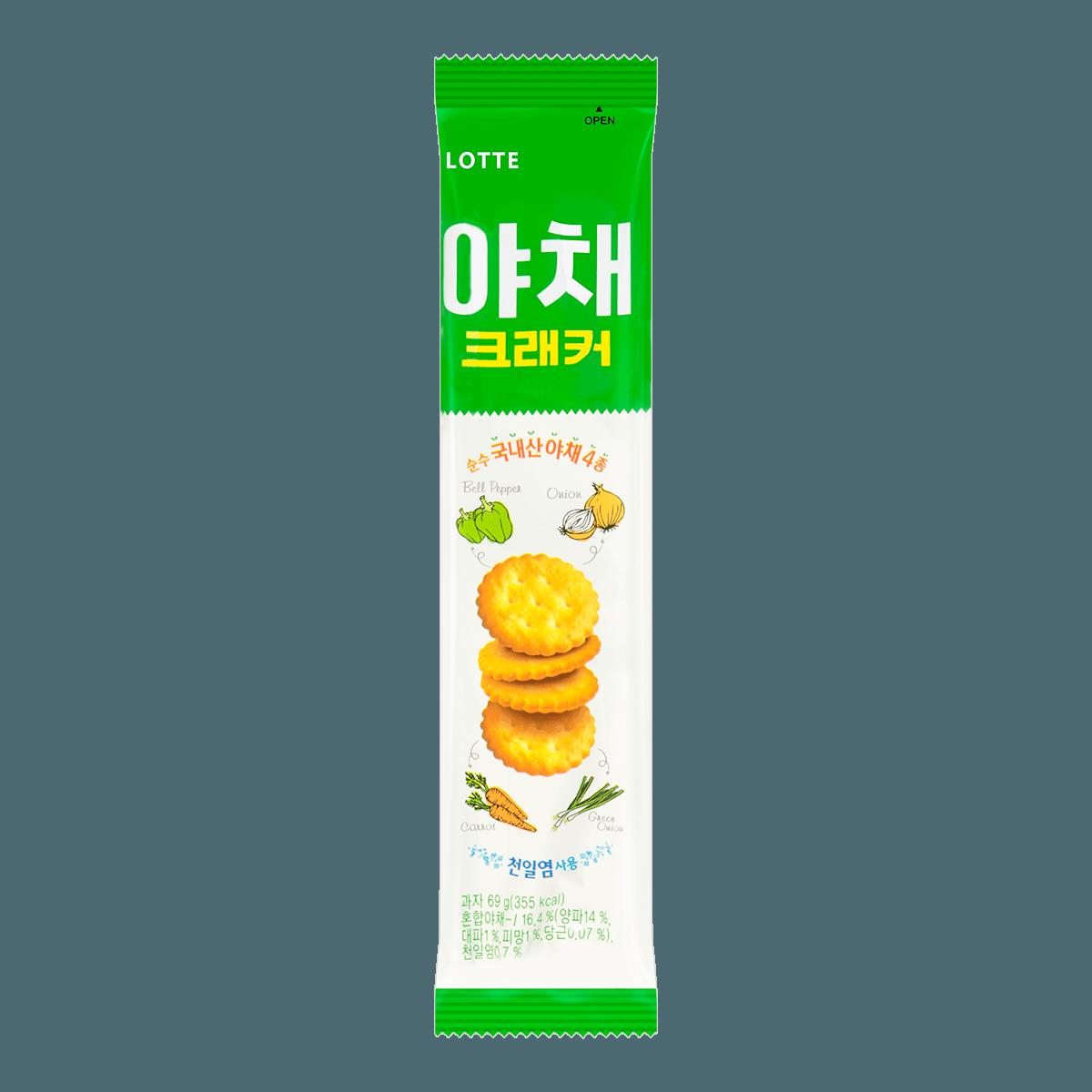 韩国LOTTE乐天 高纤营养蔬菜饼干 69g