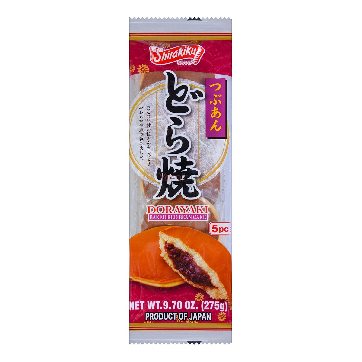 SHIRAKIKU Dorayaki Baked Red Bean Cake 5pc