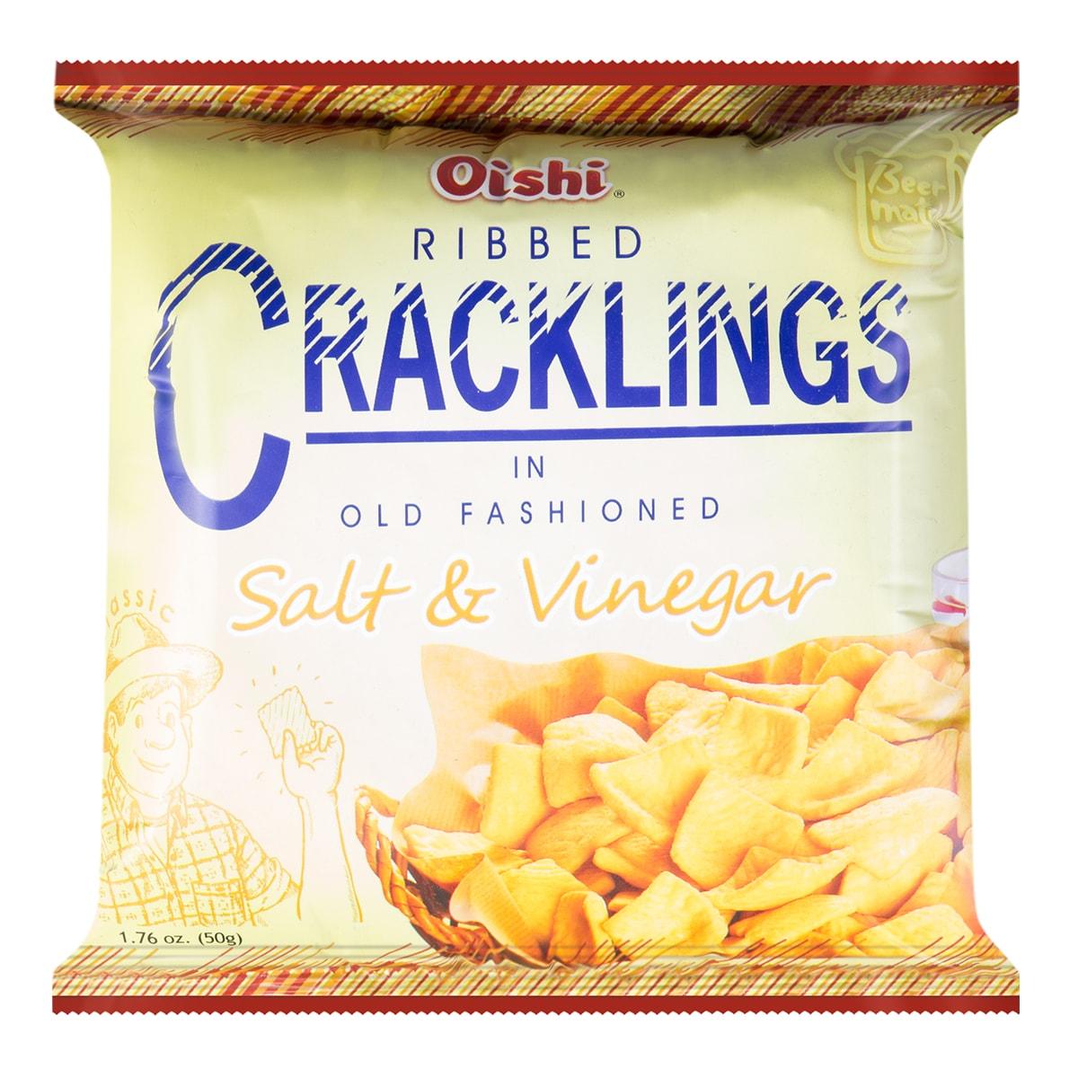 OISHI Ribbed Cracklings In Old Fashioned Salt & Vinegar 50g