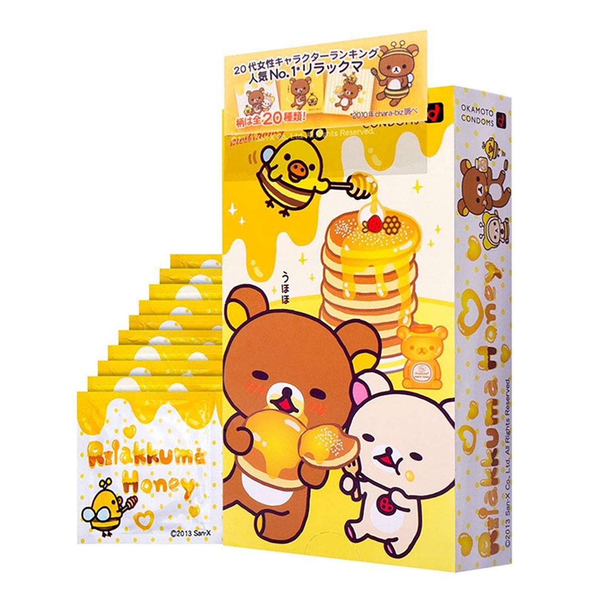 日本OKAMOTO冈本 轻松熊安全避孕套 10个装