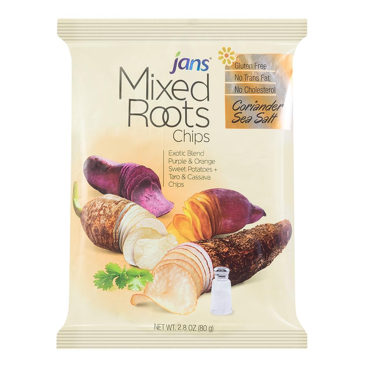 美国JANS 綜合芋木薯薯片 海盐口味 80g
