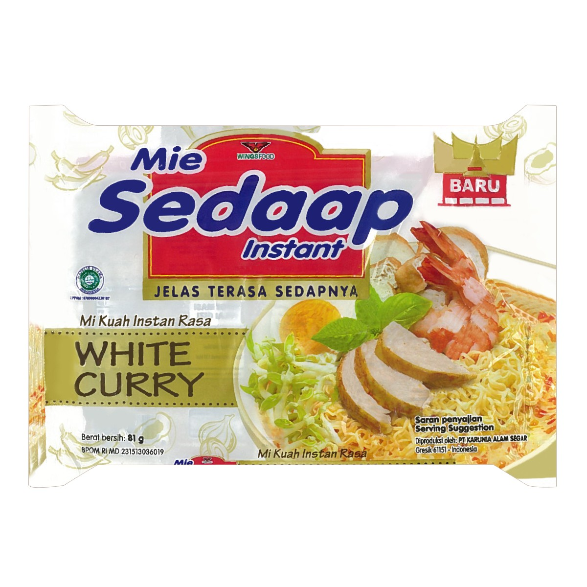 SEDAAP WHITE CURRY NOODLE 81g