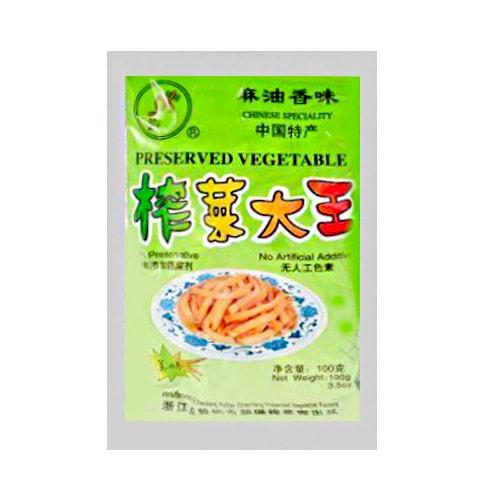 DA XING Preserved Vegetable Pickled Radish Shredded Sesame Oil Flavor 100g