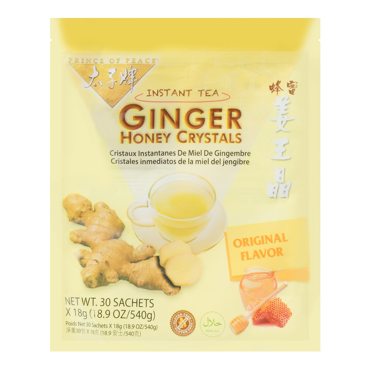 PRINCE OF PEACE Ginger Honey Crystals 540g 30pc