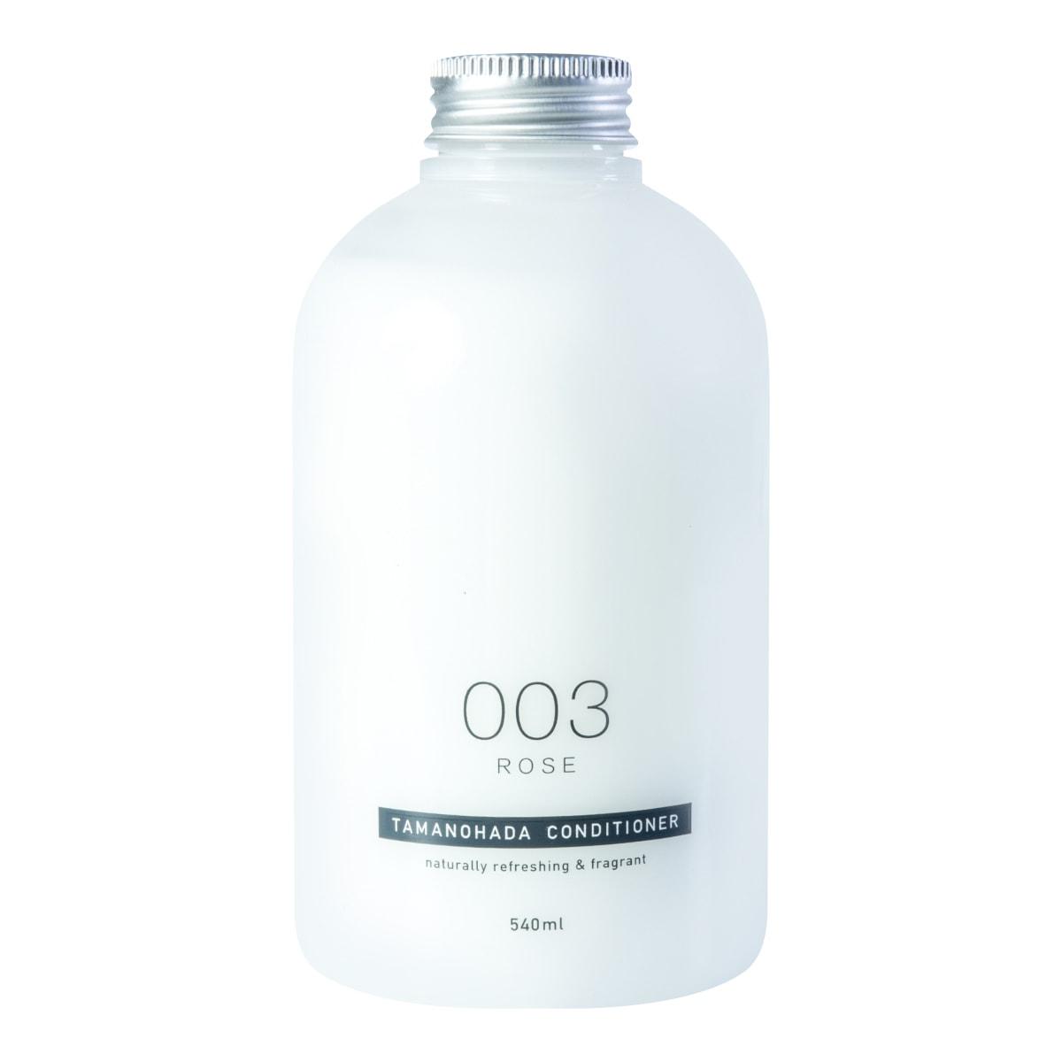 日本TAMANOHADA玉肌 无硅油护发素 #003玫瑰香 540ml