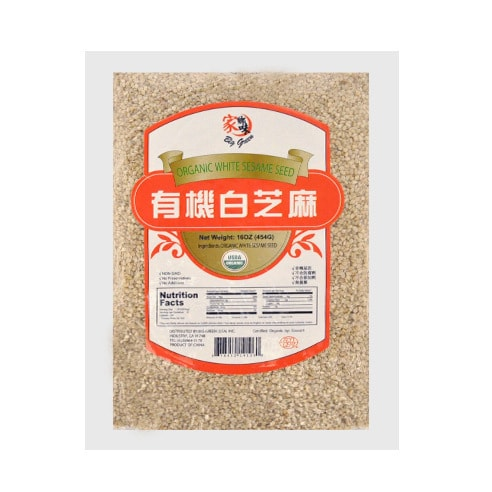BIG GREEN Orginic White Sesame Seed 454g USDA Certified
