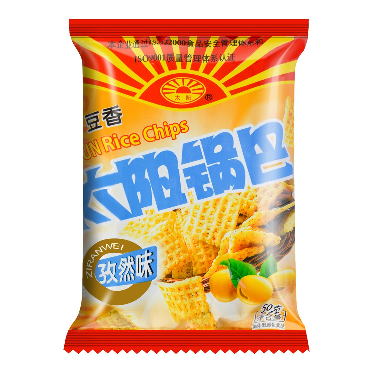 太阳 太阳豆香锅巴 孜然味 50g