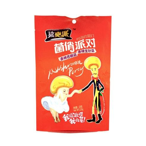江中源 菜爽派 菌俏派对 香辣杏鲍菇&香辣金针菇 220g