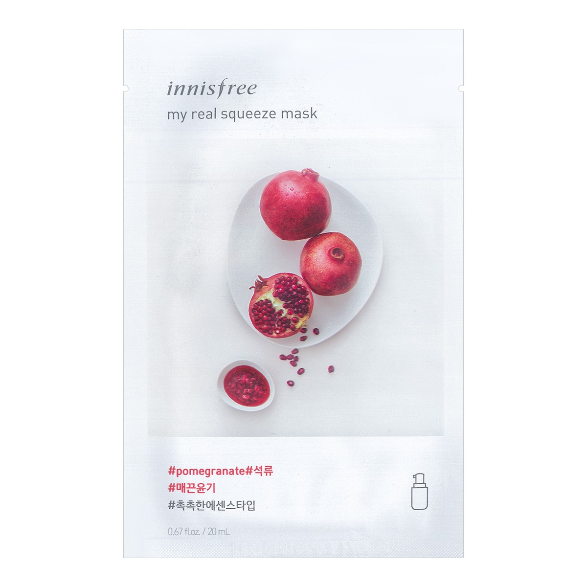 INNISFREE My real squeeze mask Pomegranate 1sheet