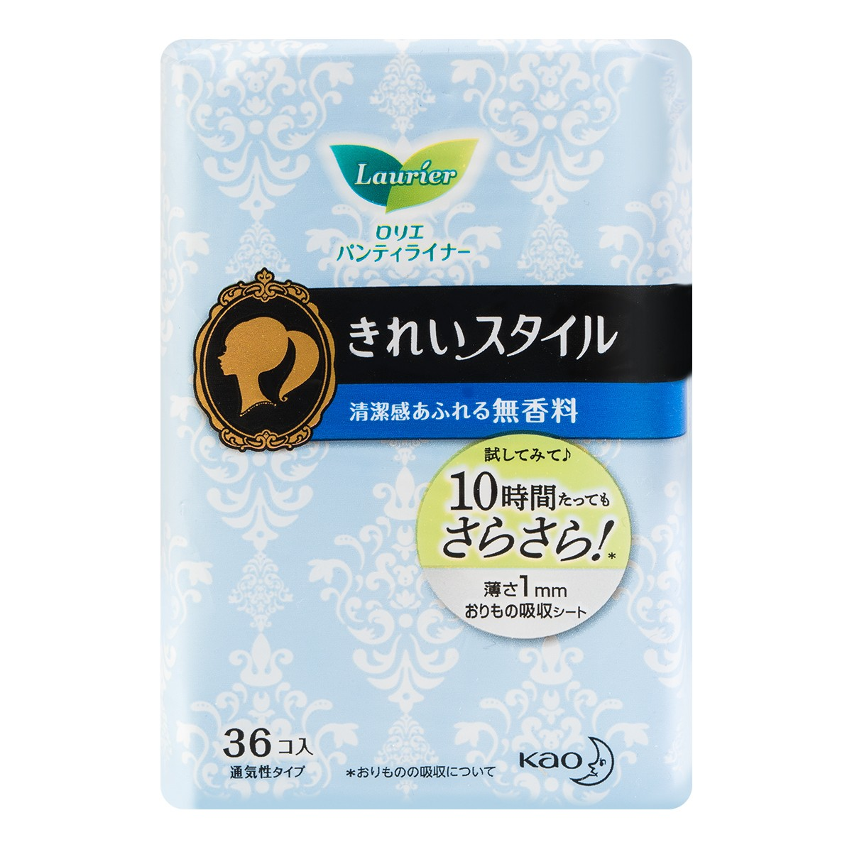 KAO LAURIER Beauty Style Panty Liner Fragrance-Free 14cm 36pads