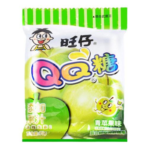 台湾旺旺 旺仔QQ糖 青苹果味 混合胶型凝胶糖果 70g
