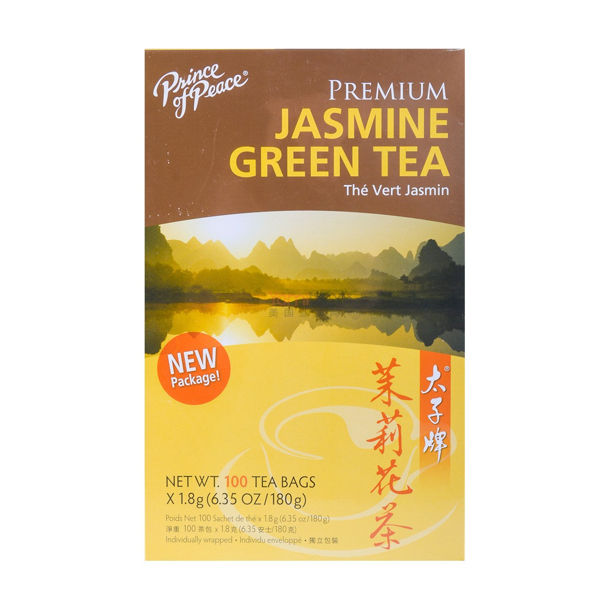 PRINCE OF PEACE Premium Jasmine Green Tea 100 Bags 180g