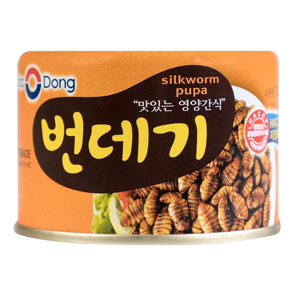 韩国YOO DONG 高蛋白即食蚕蛹罐头 130g