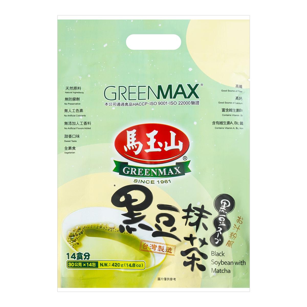 台湾马玉山 黑豆抹茶 14包入 420g