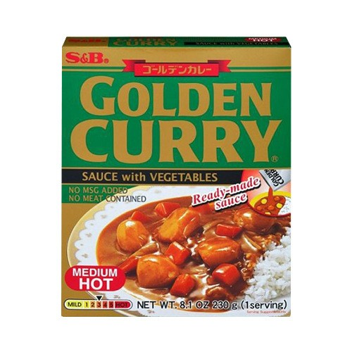 【Clearance】S&B Curry Golden Retort Medium Hot 230g