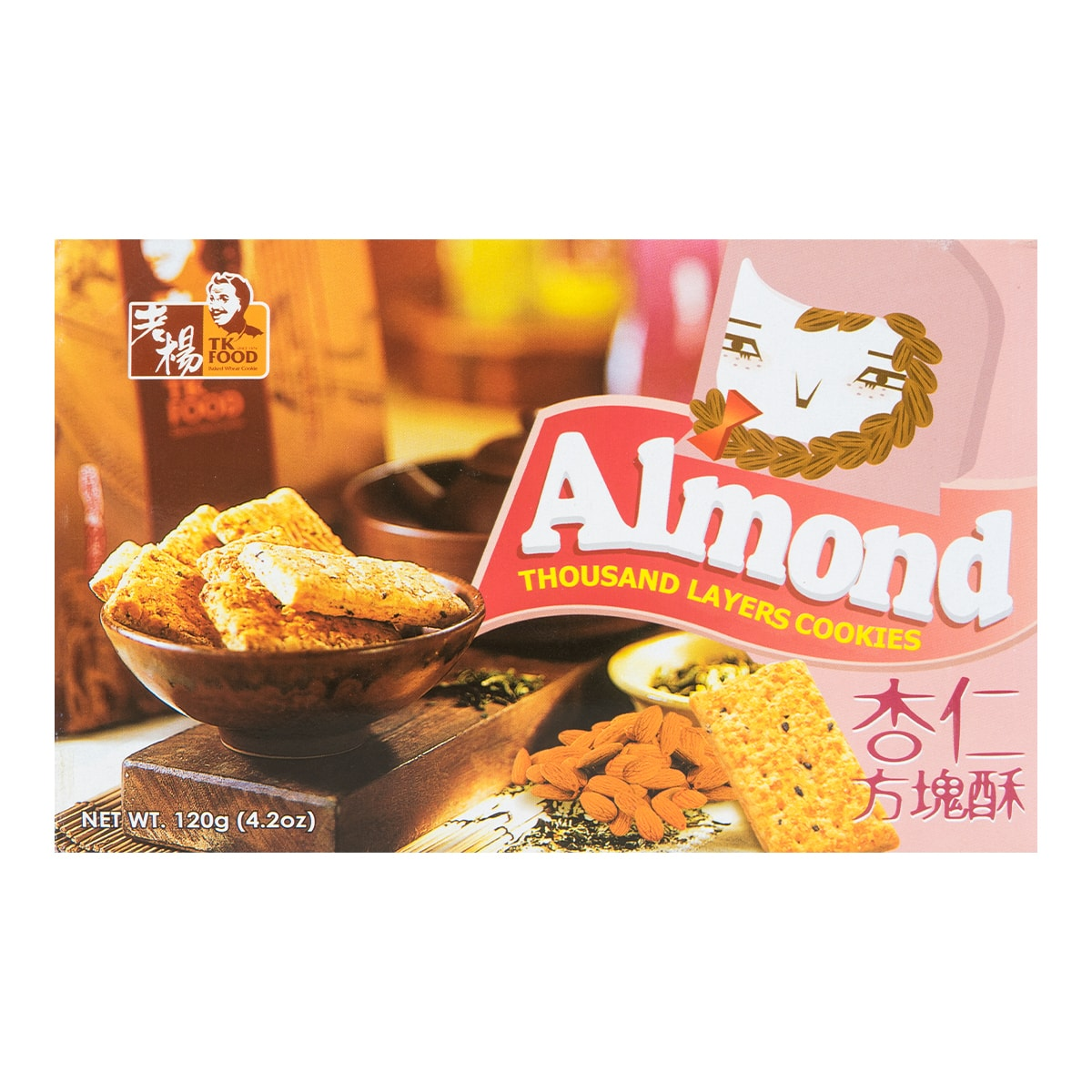 TK FOOD Almond Thousand Layers Cookies 120g